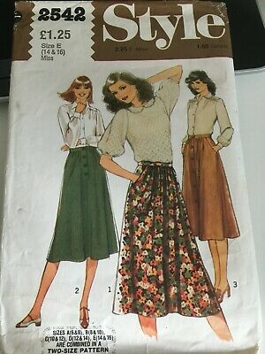 £1.50 • Buy Style Vintage Sewing Pattern - Skirt- Size 14 16