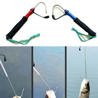 £8.75 • Buy 1 * Telescopic Fishing Gaff 60/90/120cm Stainless Steel Aluminum Spear Hook Tack