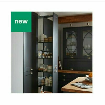 £139.99 • Buy Goodhome Pebre Matt Anthracite Soft Close Universal Pull Out Larder Unit  A