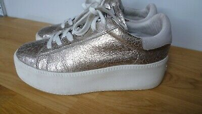 £9.95 • Buy Ash Limited Lace-up Gold Colored Lace-up Trainer / Sneaker  Size 38 Eu