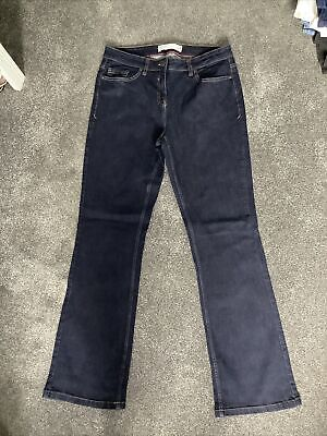 £10.50 • Buy Ladies NEXT Bootcut Mid-Rise Indigo Dark Blue Jeans Size 14 Long IMMACULATE