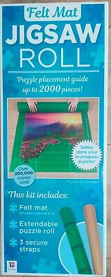 £7.50 • Buy Jigsaw Roll Felt Mat Safely Store Your In-progress Puzzles Roll Up Bnib