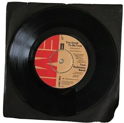 """£1 • Buy Tom Robinson Band 7"""" Too Good To Be True/Power In The Darkness EMI 2847 1978 EX+"""