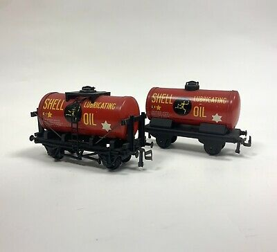 £15 • Buy Trix TTR Patents Red SHELL Lubricating Oil Fuel Tank Wagon Tin Plate OO Gauge X2