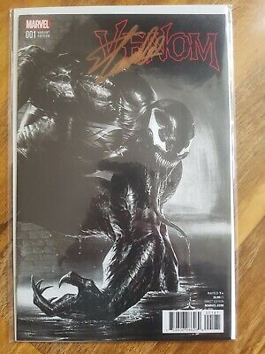 £190 • Buy Now Venom #1 Dell'Otto Black And White Variant NM Signed Stan Lee With CoA