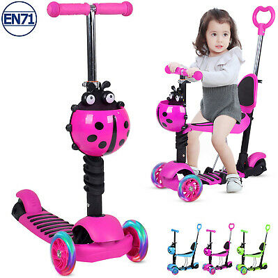 £21 • Buy 5-in-1 Baby Walker First Step Push Scooter Ride On Car LED Light Toddler Kid Toy