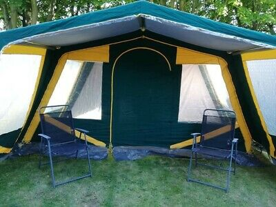 £200 • Buy Easy Camp Kos 6 Canvas Frame Tent Summer Family Camping Not Lichfield Or Cabanon
