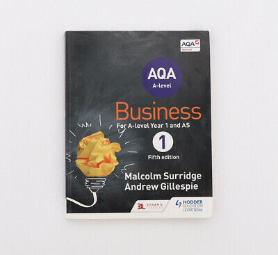 £19.98 • Buy AQA Business For A Level 1 (Surridge & Gillespie) By Gillespie, Andrew Book The