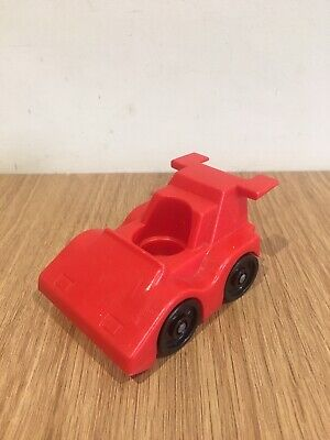 £8 • Buy Rare Retro VINTAGE FISHER PRICE TOYS LITTLE PEOPLE Sports CAR RED 1983 Display