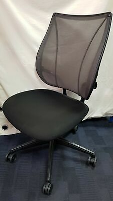£59.99 • Buy Humanscale Liberty Black Ergonomic Office Chair Without Arm Rests