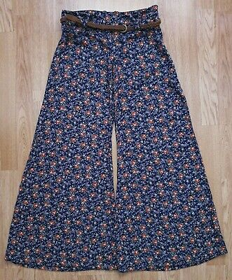 £30 • Buy RIVER ISLAND Y2K Floral Palazzo Wide Legged Pants Flares Flared Trousers 6 8