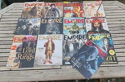 £22.99 • Buy Empire Magazine Hobbit Lord Of The Rings 12 Issues Plus Hologram