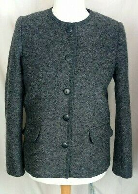 £9.95 • Buy COTSWOLD COLLECTION JACKET ~ Size 12 UK ~ Grey ~ 65% Wool Top ~Boiled Blazer ~ I