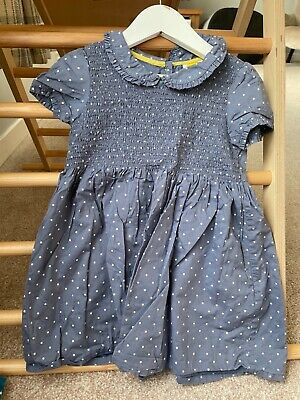 £8 • Buy Boden Blue And White Spotty Dress Girls 3-4 Years