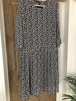 £8.50 • Buy Cotswold Collection Black Floral Print Dress Size 20