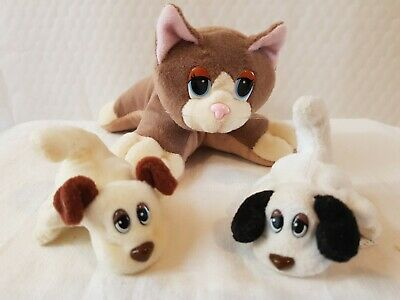 £9.95 • Buy 3x  Vintage 1997  Galoob Pound Puppies Dogs 1 Cat  And 2x Puppies Moving Parts