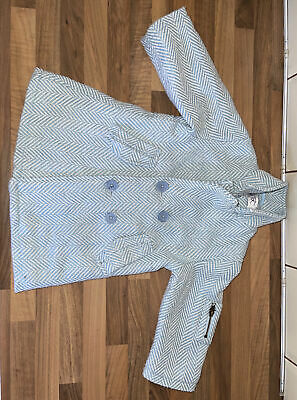 £7.50 • Buy Girls Couche Tot Coat -checked Pale Blue Size 18-24 Months