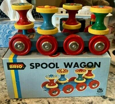 £10.90 • Buy Vintage Brio  Spool Wagon  Wooden Moving Pull Toy  #31773 With Original Box