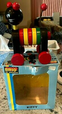 £10.90 • Buy Vintage Brio  Kitty  Wooden Moving Pull Toy  #31735/1 With Original Box