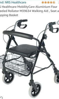 £40 • Buy 4 Wheel Mobility Walker With Seat And Basket.