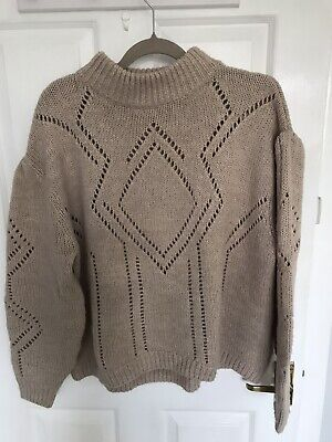 £3.60 • Buy H&M Premium Beige Chunky Oversized Knit Jumper Size Small