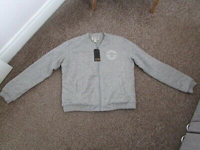 £14.99 • Buy Boys Converse Grey Fleece Lined Zip Up Top Size L Approx Age 15yrs Bnwt
