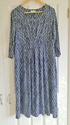 £3 • Buy Ladies Cotswold Collection Dress (Blue With Abstract Pattern / Size XL)
