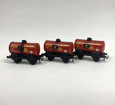 £15 • Buy Trix TTR Patents Red SHELL Lubricating Oil Fuel Tank Wagon Tin Plate OO Gauge X3