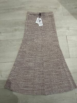 £7.72 • Buy Reiss Long Pink Knitted Fitted Skirt Small