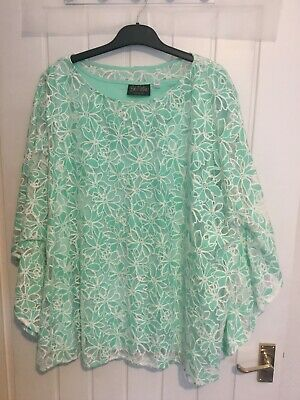 £5.99 • Buy Ladies Lined Top By Bob Mackie...size 24..(3xl) In Green..new Without Tags