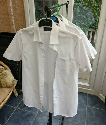 £9.99 • Buy M&S Marks And Spencer  3 Pack Slim Fit Short Sleeve Shirts - 15in/38in Chest