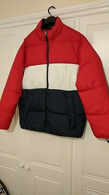 £10.99 • Buy H&M LOGG Mens Size Large Red / Contrasting Coloured PUFFER Jacket Useful Coat