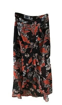£1.99 • Buy RIVER ISLAND Midi Floral Skirt Size 8 New