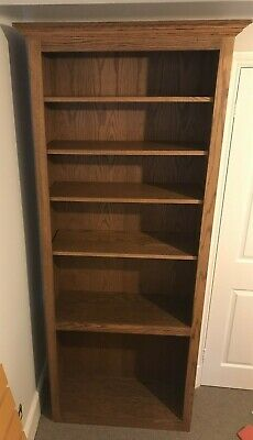 £55 • Buy Solid Wooden Bookcase With 5 Shelves 2.13m Tall