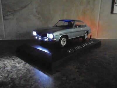 £49.99 • Buy Classic Mk1 Ford Capri Xl With Working Lights 1:18 Model Car In Display Case