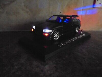£74.99 • Buy Ford Escort Rs Cosworth With Working Lights 1:18 Model Car In Display Case
