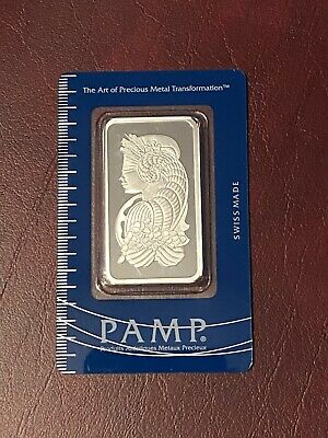 £45 • Buy PAMP Suisse Lady Fortuna 1 Oz .999 Fine Silver Bar Sealed Assay Certificate