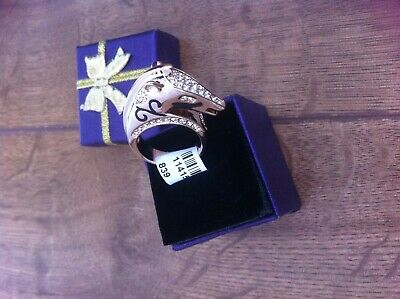 £9.99 • Buy ''UK''Unusual And Dazzling 18K Gold Plated Heavy CZ Stone FOX Ring Size 8