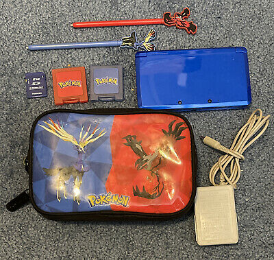 $149.99 • Buy Nintendo 3DS Blue Handheld System Console + 2gb SD Card + Charger + Pokemon Case