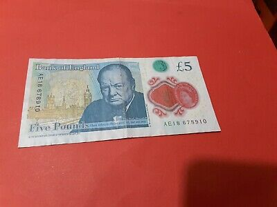 £12 • Buy Scarce Ladder   Serial Number   678910   Polymer   £5 Note , Very Good ,