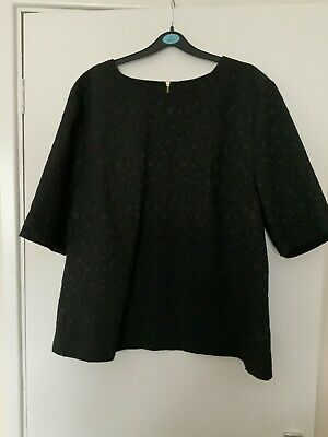 £2.75 • Buy BNWT Ladies Black Zip Up Back Slightly Stretchy Top Size 20 From TU