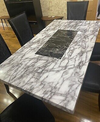 £855 • Buy Marble Dining Table And 6 Chairs