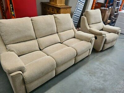 £499.99 • Buy Lovely Modern Parker Knoll Electric Reclining 3 Seater + Arm Chair Immaculate