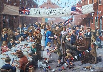 £21.54 • Buy Wentworth Wooden Jigsaw Puzzle 250 Pc.  V E Day Celebration . Excellent Cond.