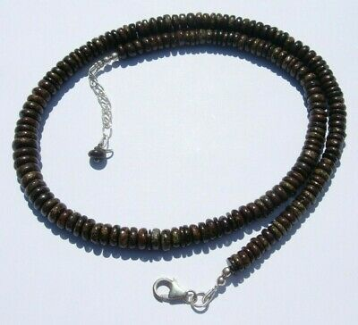 £189.13 • Buy Hand Made NWA Meteorite Bead Necklace Sterling Silver Clasp 18  33.60 Gram S-2