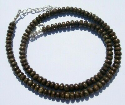 £185.50 • Buy Hand Made NWA Meteorite Bead Necklace Sterling Silver Clasp 18  26.99 Gram S-3