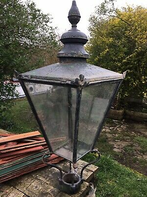 £310 • Buy Antique Copper Street Lamp Post Top By Foster And Pullen. Circa 1890.