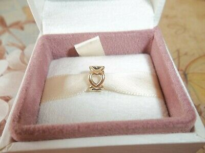 £89 • Buy Genuine Authentic Pandora 14ct Gold Open Heart Spacer Charm 750454 - G585 ALE