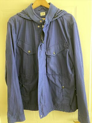 £250 • Buy Mens Used CP Company Royal Blue Goggle Jacket Size 58 Excellent Condition