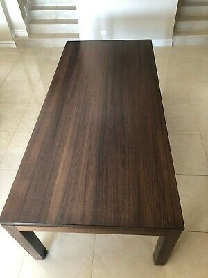AU1000 • Buy Dining Table And Chairs Used Vic Ash Walnut Stain Australian Made